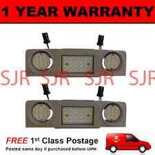 2X FOR VW TIGUAN TOURAN SHARAN 48 WHITE LED FRONT INTERIOR COURTESY LAMPS