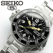 SEIKO SEIKO 5 SPORTS ATLAS SKZ211J1 Diver's Black Dial Men's Watch From Japan