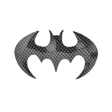 Black Cool Bat Man 3D carbon fiber Flying Bat Badge Sticker Car Logo Emblem MWUK