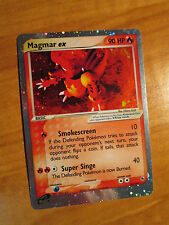PL Pokemon MAGMAR EX Card RUBY and SAPPHIRE Set 100/109 Ultra Rare Holo TCG