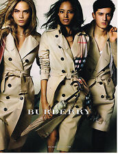 PUBLICITE ADVERTISING 025  2014  BURBERRY  trench-coat  CARA DELEVIGNE