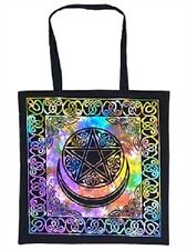 Pentacle Moon Tie Dye Tote Bag Shopping Bag Wiccan Pagan Altar Supply TB68TD