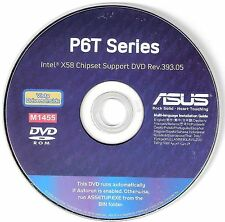 ASUS P6T Deluxe & NON DELUXE Motherboard Drivers Installation Disk M1455