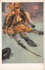 Wounded Soldier? Alphonse Mucha Original Signed Postcard