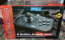 SEGA GENESIS - 6 Button Arcade Stick GAME CONTROLLER w/Box BRAND NEW 16 Bit NIB