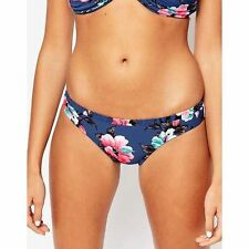NWT SEAFOLLY Vintage Vacation French Blue Hipster Bikini Bottoms US 8 $67
