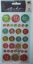Sticko ~PATTERNED BUTTON REPEATS~ Dimensional Stickers EK Success; baby children