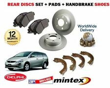 FOR MITSUBISHI GRANDIS 2.0DT DiD 2005-   REAR DISCS SET + BRAKE PADS + SHOES KIT