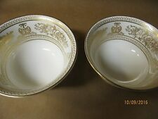 2 Wedgwood Cups --- Gold Columbia