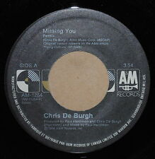 Chris De Burgh Missing You / The Last Time I Cried 1988 Rock 45 on A+M