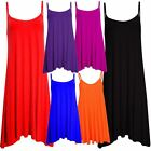 New Ladies Plus Size Long Flare Swing Vest Dress Long Camisole Top 8-22