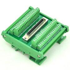 """DIN Rail Mount 68-pin 0.05"""" Mini D Ribbon/MDR Female Interface Module, SCSI."""