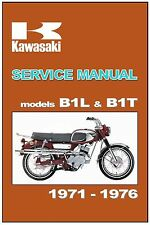 KAWASAKI Workshop Manual B1L & B1T 1971 1972 1973 1974 1975 1976 Service Repair