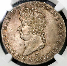 1829 NGC MS 61 2/3 THALER Hannover GEORGE IV King Britain POP 1/3 (16110810C)