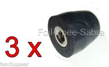 THREE 3 insulated electric Saber Fencing 6mm inside allen wrench pommel nuts