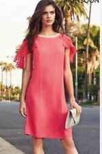 BNWT��Monsoon��Size 12 Jodie Tunic Dress Coral Wedding Races Party Cocktail New