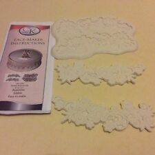 Ck lace Flower Scroll Silicone Mould Fastest,Easiest new way to add Lace to Cake