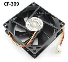 3-Pin 80mm CPU Case / Power Supply Ball Bearing Cooling Fan, CablesOnline CF-309