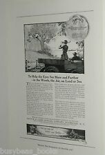 1920 Bausch & Lomb Optical Co advertisement page, bird-watching binoculars