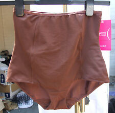 Yummie Tummie BNWT Shaping Tricot Mesh Combo Panty Chocolate Brown Cocoa SZ S