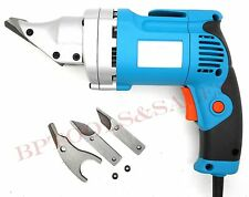 Electric Head Shear & 3 Pc Blades Metal Steel Heavy Duty Head Shear Cutter NEW
