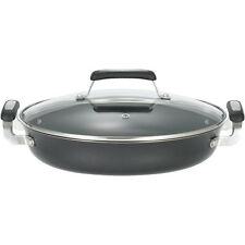 "T-Fal Everyday 12"" Covered Saute Pan, Non-Stick Aluminum Fry Pan w/ Glass Lid"