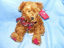 Russ Berrie Teddy Bear avec écharpe collector rare 99248