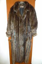 PLUSH CANADIAN BEAVER FUR COAT  Full Length