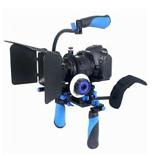 Eimo DSLR Rig Set Film Kit Montaggio a Spalla Rig con follow focus e opachi Bo.