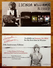 LUCINDA WILLIAMS S/T   Blessed 2 Ltd Ed NEW Posters Lot +FREE Folk Rock Poster!