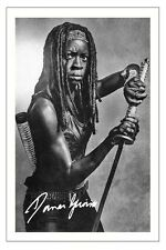 DANAI GURIRA THE WALKING DEAD SEASON 6 SIGNED PHOTO PRINT MICHONNE
