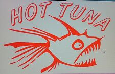 HOT TUNA Car Decal Vinyl, Drift Sticker, JDM,FISHING, SURFING CAR VAN BIKE BOAT