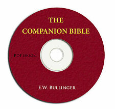 THE COMPANION BIBLE-E W Bullinger-Christian Scripture Commentary Study-CD Ebook