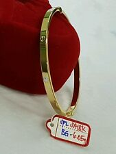 18k saudi gold 6.05g gold yellow cartier design bangle bracelet....^