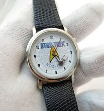 "STAR TREK,""Spinning Enterprise"" Musical ST Theme Song,Unique!  MENS WATCH,1214"