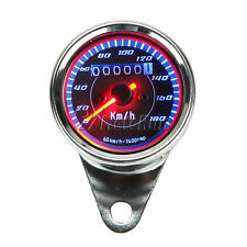 LED light Universal Odometer Speedometer Harley Bobber Custom Chopper Cafe Racer