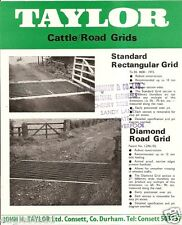 Farm Equipment Brochure - Taylor - Cattle Road Grid Guard Cow (F3691)
