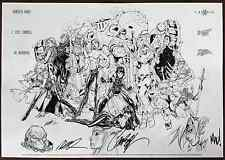 J SCOTT CAMPBELL JOE MAD RAMOS CLIFFHANGER REUNION PRINT REMARK NYCC LTD 15 COA