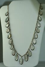 VICTORIAN ANTIQUE GOLD OVER STERLING SILVER MOONSTONE NECKLACE