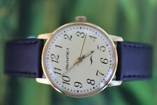 GREAT VERY BIG THICKLY GOLD-PLATED BELARUS VIMPEL WATCH 17 JEWELS