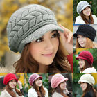 Women's Lady Winter Warm Knitted Crochet Slouch Baggy Beanie Hat Cap 9 Colors