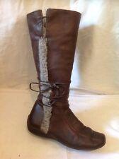 Pays jack studio marron mi-mollet bottes en cuir taille 37