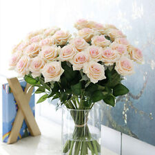 10 /20 Head Real Latex Touch Rose Flower Wedding Home Decor Bridal Bouquet