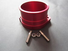 VW G60 INTAKE FLANGE ADAPTER CNC MADE ANODISED RED, GOLF RALLYE CORRADO GOLF