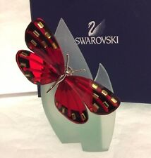 Swarovski Adena Light Siam Butterfly & Leaf Stand with Box & Certificate 622737