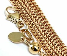 """New 14k yellow gold 1.23mm Franco link chain necklace adjustable up to 30"""" 7.71g"""