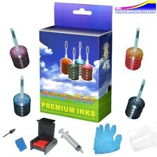 ECOFILL HP DESKJET 1010 1050se 1512 1514 INK CARTRIDGE REFILL ING KIT & TOOLS
