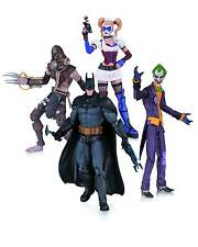 Arkham ASYLUM JOKER HARLEY Batman Scarecrow 4 PACK ACTION FIGURE