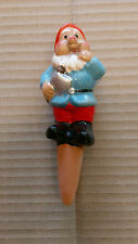 CERAMIC PLANT POT WATER FEEDING SPIKE * GNOME * BLUE JACKET *