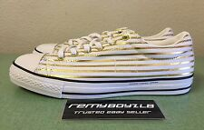Converse x Fragment CTS OX White Rich Gold Stripes Men's Sz 11 All Star JV NEW!